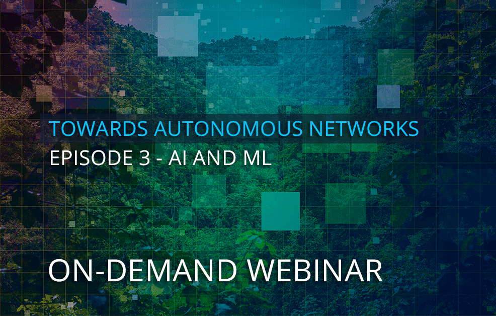 On-demand webinar – How do AI and ML help drive network automation? Understand the key use cases driving adoption.